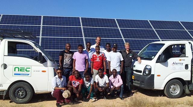 NEC Alensy installation Omburu