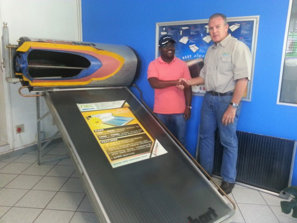 Solahart Competition Winner - prize handover